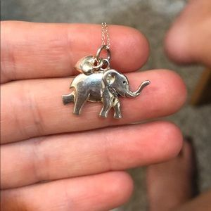 Elephant heart necklace